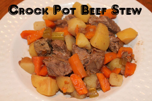 Crockpot Beef Stew - Meat, potatoes, and carrots... what could be better? Oh that's right, letting the crockpot do all the work for you!
