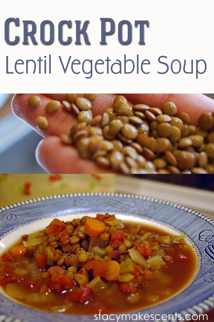 Crock Pot Lentil Vegetable Soup