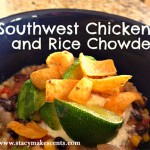 Crock Pot Southwest Chicken and Rice Chowder