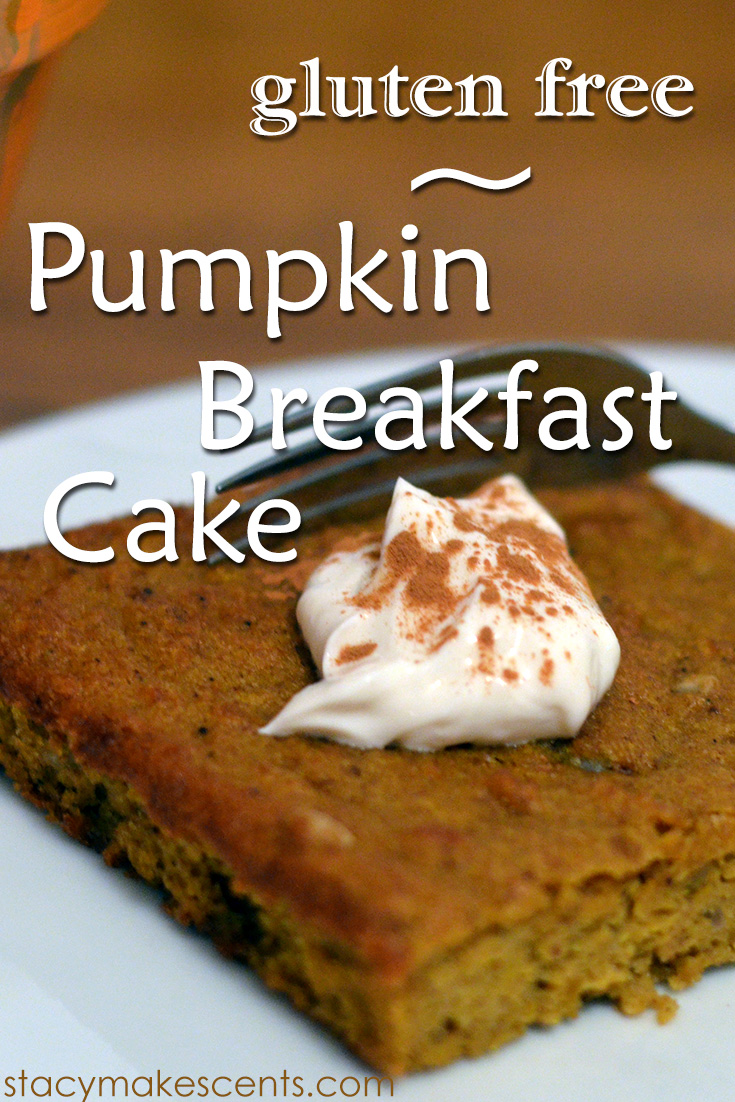 Pumpkin Breakfast Cake. Cake for breakfast? Yes, please! Since it's gluten-free, it's also good for your tummy!