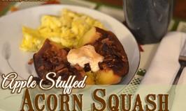 Crock Pot Apple Stuffed Acorn Squash