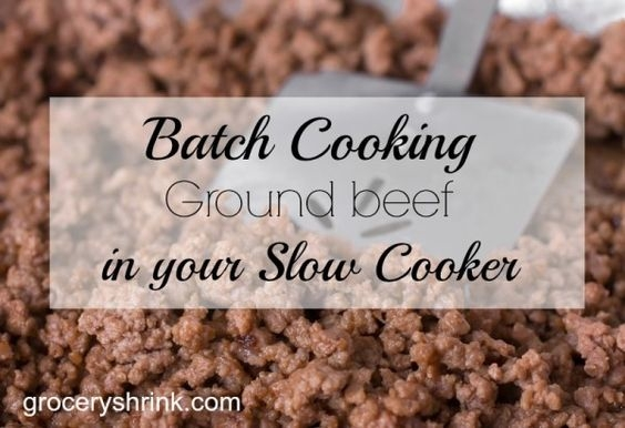 slow cooker ground beef