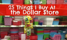 25 Things I Buy At the Dollar Store