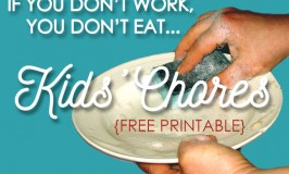 If You Don't Work, You Don't Eat – Kids' Chores {free printable}