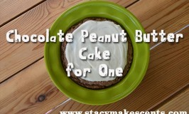 Chocolate Peanut Butter Cake for One