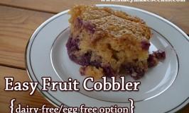 Easy Fruit Cobbler {dairy-free/egg-free option}