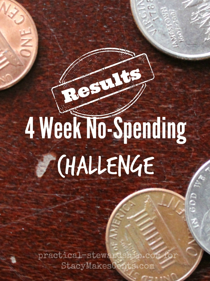 Four Week No-Spending Challenge Results
