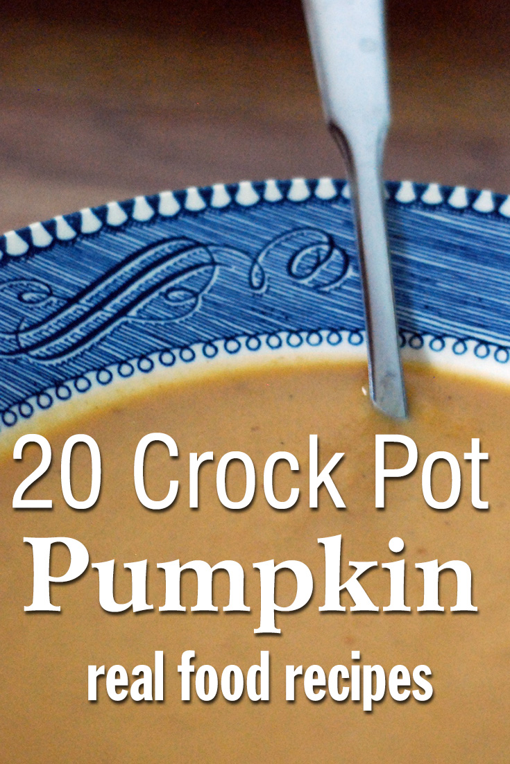 20 Crock Pot Pumpkin real food recipes. Real food crockpot pumpkin recipes can sometimes be hard to find. So this list is a great find!