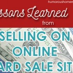 Lessons Learned Selling on Online Yard Sale Sites