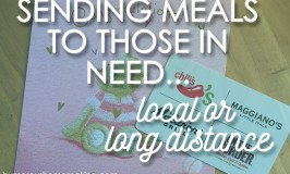 Sending Meals to Those in Need…Local or Long Distance