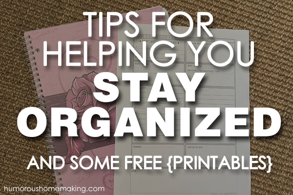 Staying organized doesn't have to be hard! These tips and free printables will keep you organized without losing your mind!