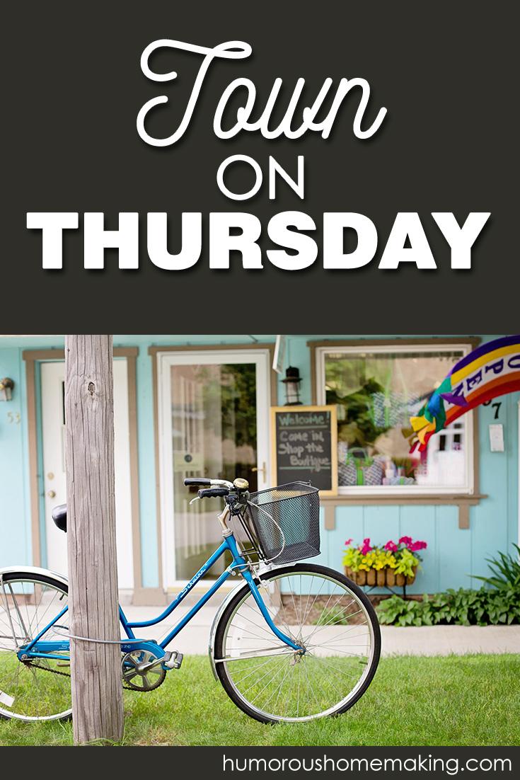 town on Thursday
