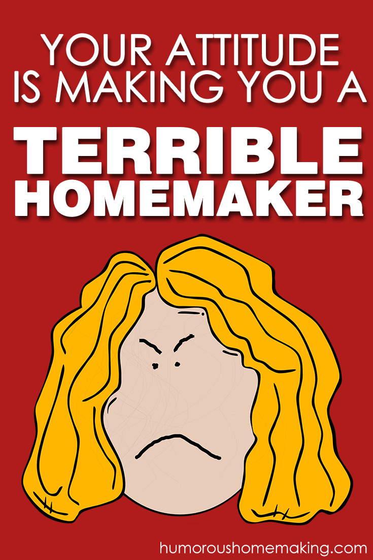 you're a terrible homemaker