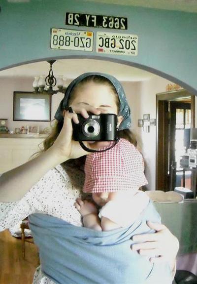 babywearing in a ring sling