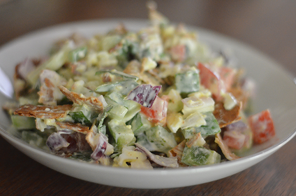 This Cracker Salad is the BEST way to eat your veggies! A super easy lunch option in a single serve size.