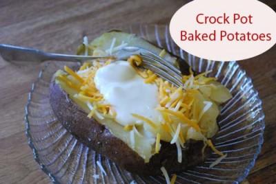 Crock Pot Baked Potatoes or Sweet Potatoes - Humorous Homemaking