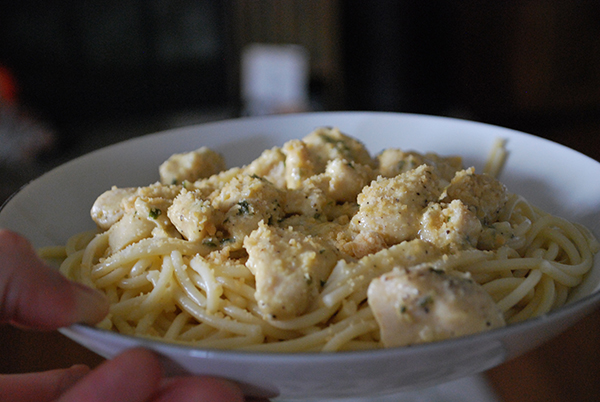 This recipe started out as a remake of the Pioneer Woman's Linguine with Clam Sauce and then morphed into its own thing... its own delicious thing. Drop what you're doing and go make this Chicken with Cream Sauce.