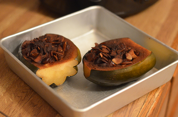 Crock Pot Stuffed Acorn Squash