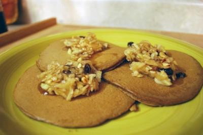 Gingerbread Pancakes with Apple Slaw - Humorous Homemaking