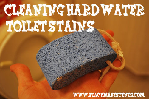 how to clean well water stains from toilet