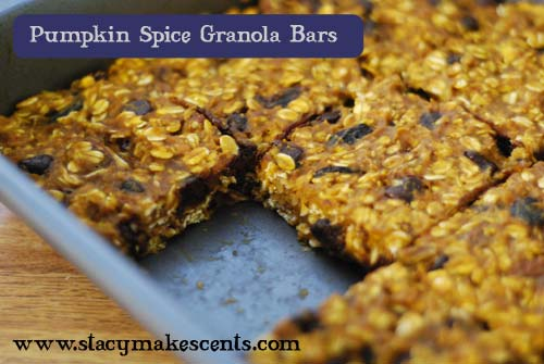Pumpkin Spice Granola Bars - Humorous Homemaking