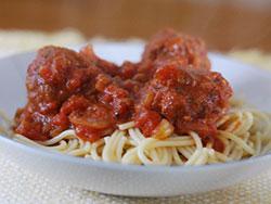 Spicy Spaghetti & Meatballs
